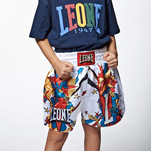 Leone 1947 Hero, Pantaloncino Unisex Bambini, Bianco, S