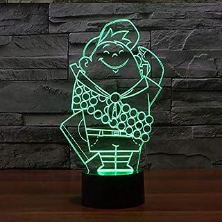 3D Led Tischlampe 7 Farben Ersatz Usb Cartoon Charakter Schlafzimmer Büromöbel Beleuchtung Nachtlicht Kinder Urlaub Geschenke