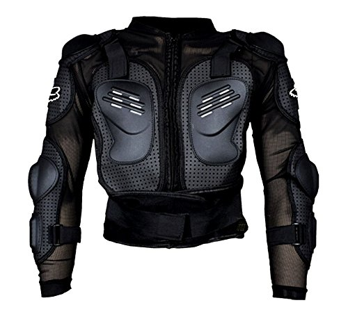 Auto Pearl - Fox Riding Gear Body Armor Jacket For Bike Protective Jacket - Black -Size - XXXL  available at amazon for Rs.1299