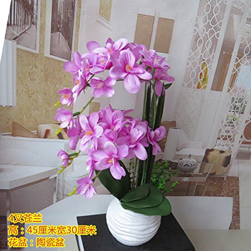LIXIAOXIN Ornamente False Butterfly Orchid Simulation Dekoration Bonsai Violett
