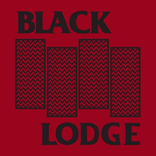 Twin Peaks Black Lodge Black Flag Logo Women's Hooded Sweatshirt Cherry Red