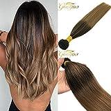 Best Hair Weave Blonde 3 Bundles - Googoo 100g 100% Real Hair Colorful Sew in Review