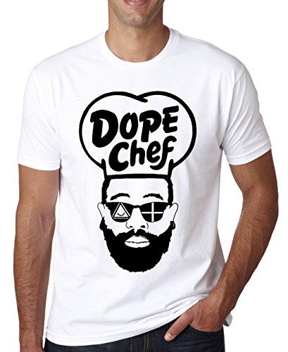 LukeTee Dope Chef Hipster Beard Sunglasses Men's T-Shirt Small