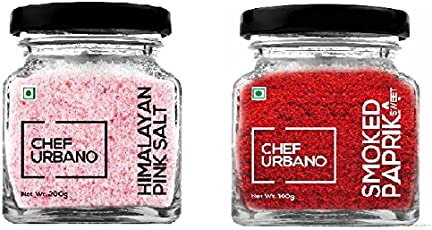 Chef Urbano Smoked Paprika Sweet 100 Gms + Himalayan Pink Salt 200 Gms Combo