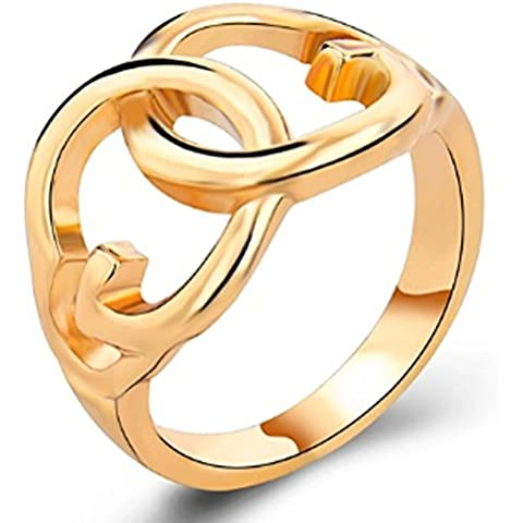 SaySure - 18K Gold Plated Ring Double