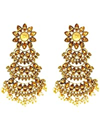 DeAaaStyle Trendy Fashion Gold Plated Five Stepper Dangler Earrings For Women And Girls