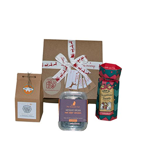Luxury Cat Christmas Box Present Gift Hamper by Natural Pet Box
