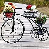 XD Supporto per Fiori 3 vasi Vaso per fioriera per Piante da Interno ed Esterno Uso Vintage Portabiciclette per Biciclette in Stile Vintage HUA0413J (Colore: Nero)