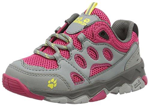 Jack Wolfskin Mtn Attack 2 Low K, Chaussures de Randonnée Basses mixte enfant Rose (Tropic Pink)