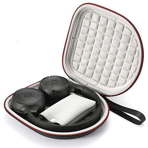 Hard Case für JBL T450BT / JBL T500BT über das Ohr drahtlose Bluetooth-Kopfhörer, Reise-Schutztragetasche - Schwarz(Graues Futter)