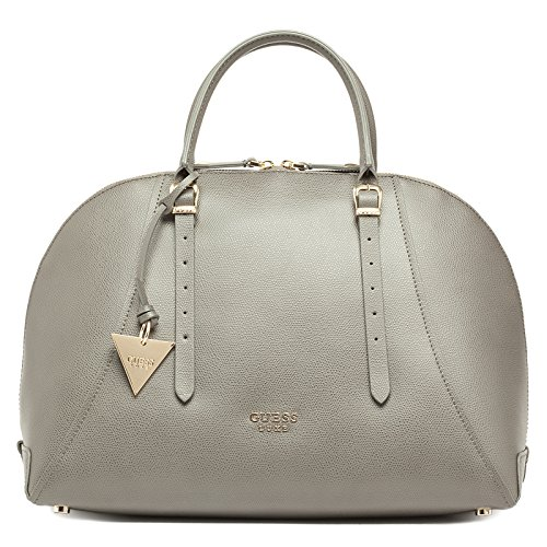 Guess Lady Luxe Dome Satchel Borsa a Spalla, Donna, Grigio (Dark Grey)