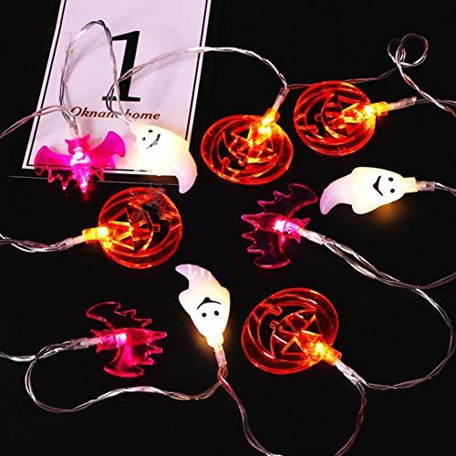 Halloween Lichterketten - Kürbisse Fledermäuse Spectres Garden Party und Urlaub Dekorationen Themed 10 Lichter batteriebetrieben