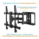 Perlegear TV Bracket Wall Mount Tilts Swivels Extends - Full Motion TV Mount For 37-70 Inch LED, LCD, OLED, Flat Screen TVs - Ultra Strong TV Bracket Includes 1.8m HDMI Cable, Bubble Level, Cable Ties