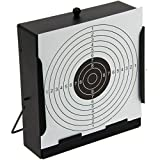 G8DS® Kugelfang-Kasten inkl. 10 Zielscheiben Scheibenkasten flach in Ganzmetallausführung Target - 14 x 14 cm Luftgewehr Luftpistole Softair