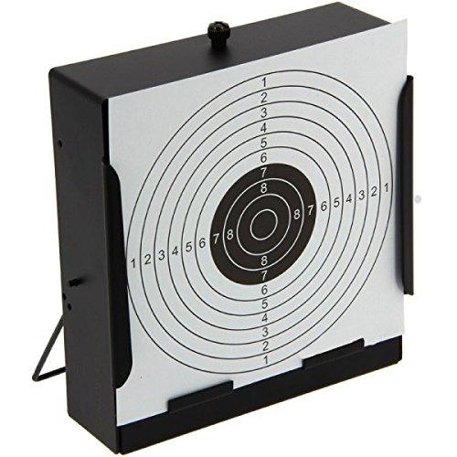 Preisvergleich Produktbild G8DS® Kugelfang-Kasten inkl. 10 Zielscheiben Scheibenkasten flach in Ganzmetallausführung Target - 14 x 14 cm Luftgewehr Luftpistole Softair