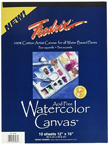 Fredrix Pad (Tara Materialien Fredrix tar-348630,5x 40,6cm Watercolor Leinwand Pad)