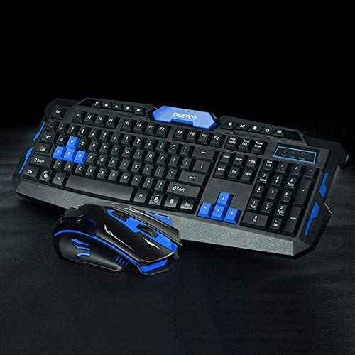 2.4GHz Wireless Gaming Keyboard Mouse Kit Comb for Desktop Notebook