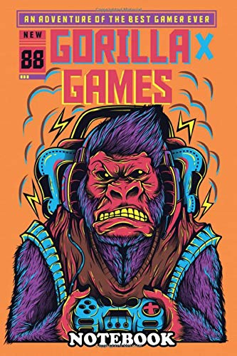 """Notebook: Gorilla Playing Games , Journal for Writing, College Ruled Size 6\"""" x 9\"""", 110 Pages"""