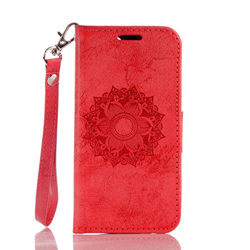 Price comparison product image Apple iPod Touch 5 / 6 Case, BONROY® Apple iPod Touch 5 / 6 Mandala PU Leather Phone Holster Case,  Flip Folio Book Case,  Wallet Cover with Stand Function,  Card Slots Money Pouch Protective Leather Wallet Case for Apple iPod Touch 5 / 6