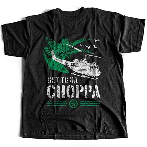 9366 Get To Da Chopper Herren T-Shirt Predator The Choppa Alien Hunter Aliens Sulaco Nostromo(Small,Black) (Chopper Predator)
