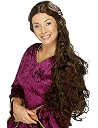 Smiffys Tales Of Old England Long Brown Guinevere Medieval Fancy Dress Wig