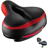 OhMyGoods - Sillín de Bicicleta cómodo y ergonómico para Hombre y Mujer, Gran Comodidad con Banda Reflectante, Asiento de Bicicleta para Bicicleta de montaña
