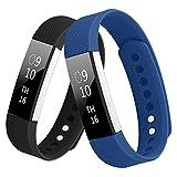 KUTOP Bracelet Compatible Fitbit Alta/Fitbit Alta HR, Remplacement en TPU Silicone Réglable Sport Bandes Accessoires Fitness Wrist Straps pour Fitbit Alta/Alta HR