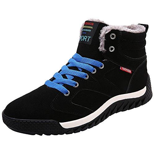 wealsex Basket Montant Fourre Homme Chaussure Antidérapant Sneakers Suédé Hiver Chaud Confort
