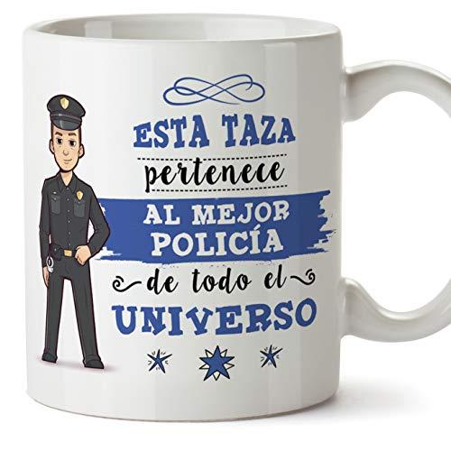 MUGFFINS Policía Tazas Originales de café y Desayuno para Regalar a Trabajadores Profesionales - Esta...