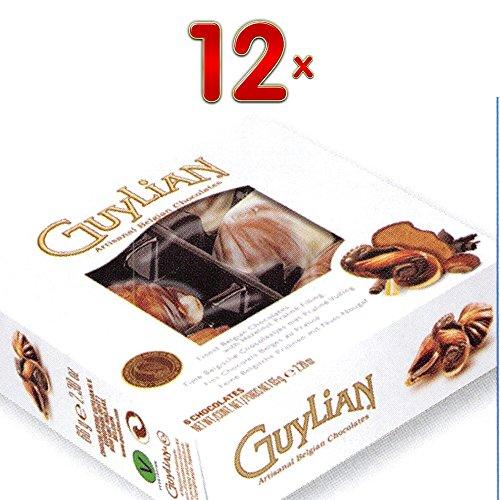 guylian-fruits-de-mer-12-x-65g-packung-belgische-schokolade-in-muschelform-mit-nuss-nougat-fullung