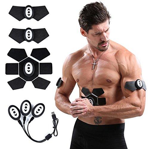 AMYB Elektrostimulation ABS Elektrischer Muskelstimulation EMS Muskeltoning Belts Home Workout Fitnessgerät Für Männer