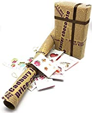 Satyam Kraft (Pack of 10) Gift Wrapping News Paper Design Sheets 28 X 19 inches, sk-1175