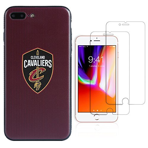 Sportula NBA Telefon Fall, die 2 gehärtetem Glas-Protectors - Extra Value Kit für iPhone 8 Plus/iPhone 7 Plus (14 cm), 5.5 inch, Cleveland Cavaliers - Cleveland Cavaliers Cellular Phone Case