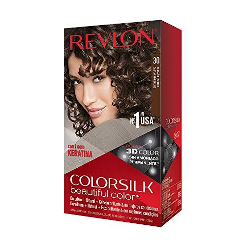 Revlon ColorSilk Tinte de Cabello Permanente Tono #30 Castaño Oscuro