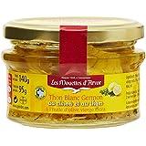 Les Mouettes d'Arvor Thon Blanc en Bocal au Citron et au Thym 140 g - Lot de 2