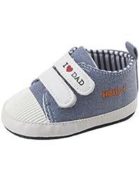 POachers Neonato Scarpe Sneaker Cartoon Flooring Suola antiscivolo di gomma morbida (21, Rosso)