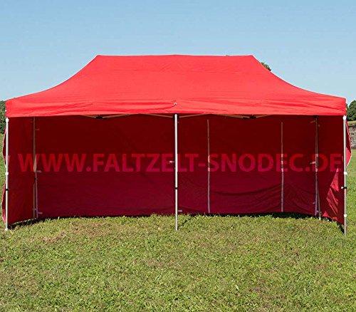 Faltzelt Faltpavillon 3x6 ROT Partyzelt Pavillon PVC 350g m Seitenteile mit 4 Seitenteilen Partyzelt Pavillon Verkaufszelt wasserdicht