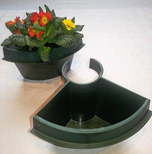set de 2 pot pour gouttière / descente d'eau (flower clicker) plantes et fleurs