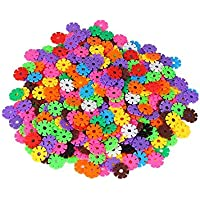 G-vendor Snowflake Shape Blocks Snowflakes Connect Reusable Colorful Building Blocks Toys - Great Imagination Toy for Boys and Girls