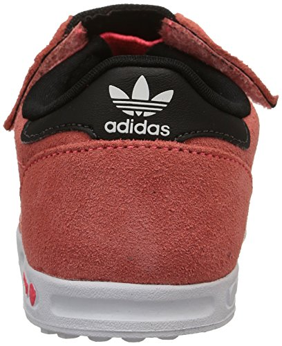 adidas  La Trainer,  Unisex Kinder Turnen Flash Red S15/Ftwr Blanc/Flash Red S15