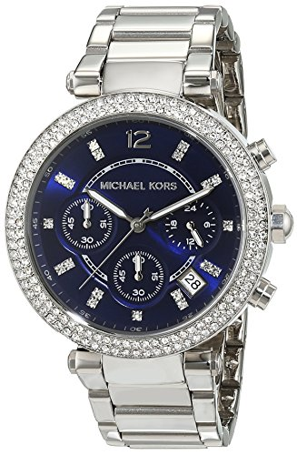 Michael Kors Damen Analog Quarz Uhr mit Edelstahl Armband MK6117
