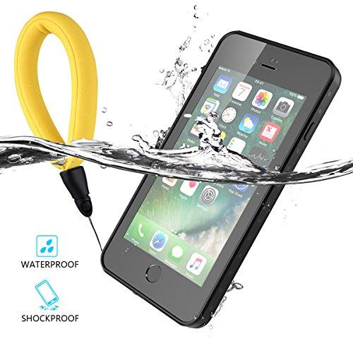 Findagift Imprägniert Hülle iPhone 7 Plus/ iPhone 8 Plus Wasserdicht Schutz Deckel Ultra Slim Waterproof Shockproof Full Body Case Cover Protector with Button Design und Touch ID Function Schutzhülle  Nero