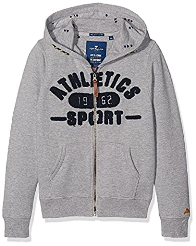 TOM TAILOR Kids Jungen Sweatshirt Athletics Sweatjacket, Grau (Medium Grey