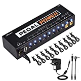 Asmuse Guitar Pedal Power Supply 10 Isolated DC Outputs for 9V/12V/18V Guitar Bass
