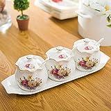 Kleine gewürzdosen,Gewürz-vorratsbehälter Keramik gewürz tiegel Mit deckel und löffel keramik gewürzdosen Vorratsbehälter-C