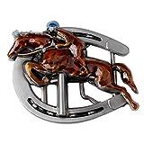 Baoblaze Antikes Emaille Horseshoe Rider Gürtelschnalle Western Cowboy Motorrad Biker