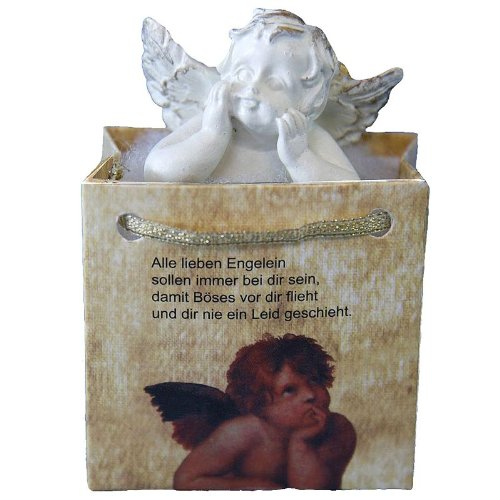 24 Stück Schutzengel in Tüte, klassisch mit Spruch
