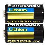 Panasonic Panasonic 2 Pack CR123A 3V Lithium Batteries for Cameras, Flightlight