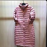 GK-Les vêtements d'hiver veste à capuchon culture auto-fine dans la longue section?Pink?M