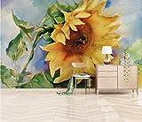 HONGYUANZHANG Retro Gelbe Leidenschaftliche Mode Tapete Des Foto-3D Künstlerische Landschafts-Fernsehhintergrund-Tapete,80Inch (H) X 112Inch (W)
